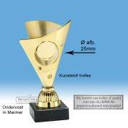 TC325.01SET - Goudkleurige trofee incl. afbeelding op open kelk (± 15 cm)