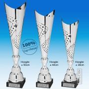 TC300X-Z Zilverkleurige Award met METALEN schulpen met uitsparingen (± 38-50cm hoog)