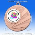 |*MEGASALE*| TC112DH Medailles - Hoogglans Metaal Ø 50mm. met gratis breed halslint - gewicht ±31 gram