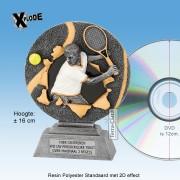 """TC1160FG - Resin Standaard TENNIS HEER """"Xplode"""" (16cm hoog)"""