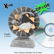 """╠ OP=OP ╣ - TC1165FG - Resin Standaard ZWEMMEN """"Xplode"""" (16cm hoog) - DE ALLERLAATSTE !!"""