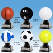 TC500FF - Kunststof BAL in diversen balsporten - bal heeft doorsnee van 8cm (± 13cm hoog)