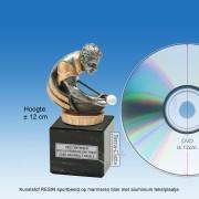 TC010FXM - Marmer blok zwart met kunststof resin BILJARTER (± 12cm)