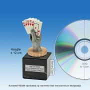 TC018FXM - Marmer blok zwart met kunststof resin KAARTEN (± 12cm)