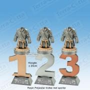TC110FX-009 Resin standaard nummer met TENUE - MET SERIEKORTING! (±20cm)