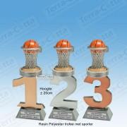 TC110FX-029 Resin standaard nummer met BASKETBAL - MET SERIEKORTING! (±20cm)