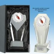 TCGL600W - Glazen Award Kristal + schuine bovenkant (18,5-23cm) incl. GIFTBOX