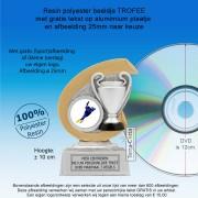 TC250FG - Resin standaard CUP met gouden accent + afbeelding (± 10 cm) MET VOLUMEKORTING!