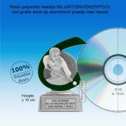 TC265FG -  Resin standaard BILJART met groen accent (± 10 cm) MET VOLUMEKORTING!