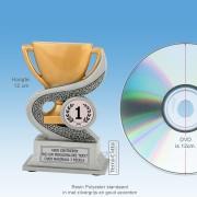 TCR900FG - Resin Standaard TROFEE NEUTRAAL - MET VOLUMEKORTING! (± 12cm)