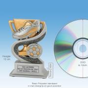 TCR904FG - Resin Standaard VOETBALSCHOEN (hoogte ± 12cm) MET VOLUMEKORTING!