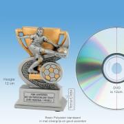 TCR905FG - Resin Standaard VOETBAL (hoogte ± 12cm) MET VOLUMEKORTING!